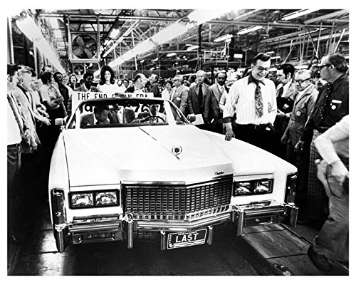 1976 Cadillac Eldorado Last Convertible on Assembly Line Photo Poster