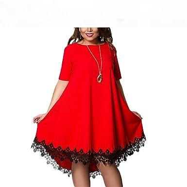 31595739bda Image Unavailable. Image not available for. Color  Baqijian Plus Size Dress  Women Summer Dresses Short ...