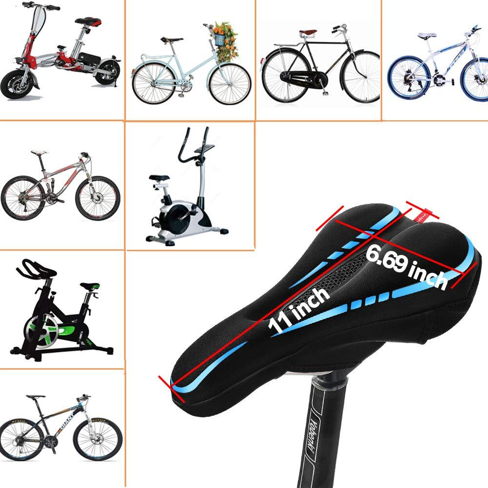 Padded Bike Saddle Cover with Waterproof Saddle for Yobenki Gel Bike Seat Cover