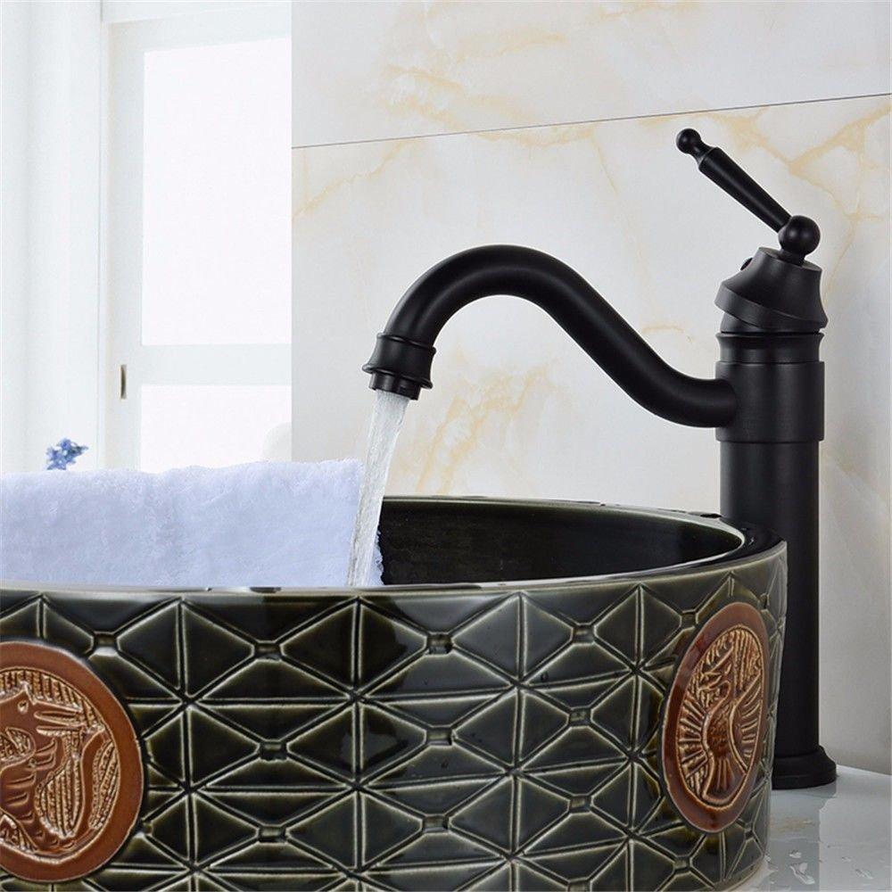 JOJOMaß Badezimmer Becken Wasserhahn Kupfer Retro heißen und kalten Wasserhahn