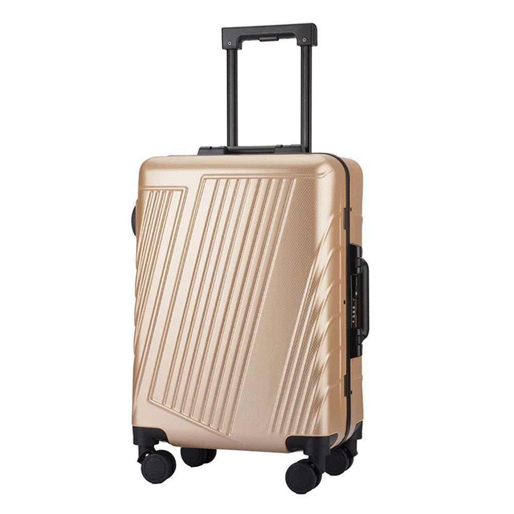 スーツケース TSAロック付き回転トラベルトロリーハードケース軽量ポータブルコラム荷物サイレントローテーターマルチディレクター航空機搭乗 週末にスーツケースを運ぶ (色 : ゴールド, サイズ : 20inches) B07SYNZP9P ゴールド 20inches
