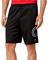 Champion Mens Logo Mesh Athletic Workout Shorts