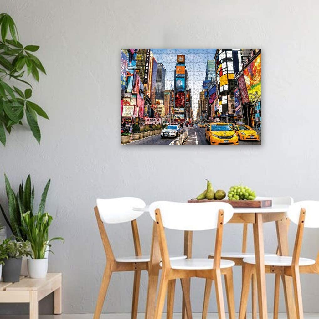GuDoQi Times Square 1000 Pieces Jigsaw Puzzles for Adults Teens