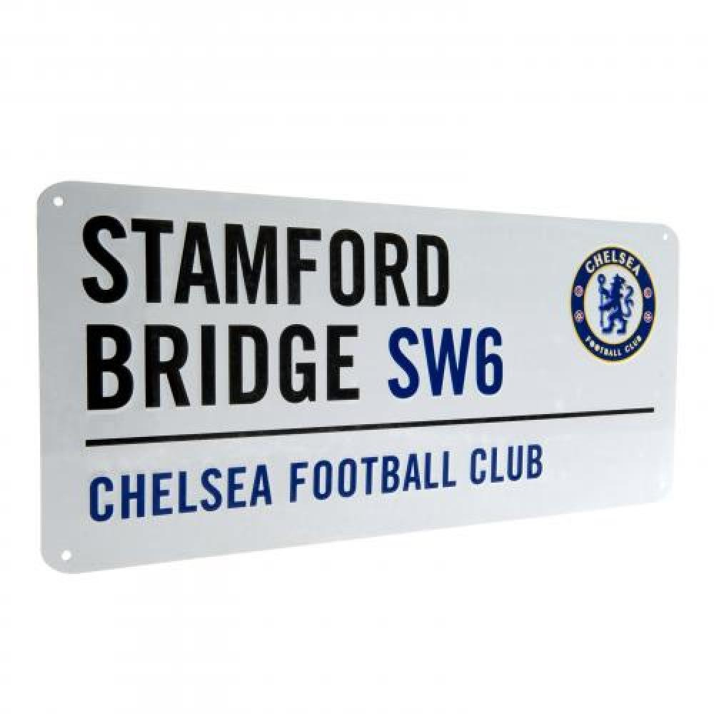 Car Accessories - Official Chelsea FC Street Sign - Novelty Football Gift Ideas ONTRAD Limited