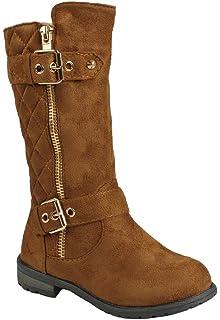 53934ecc64902 Amazon.com | Generation19 Girls Faux Leather Zipper/Buckle Mid Calf ...