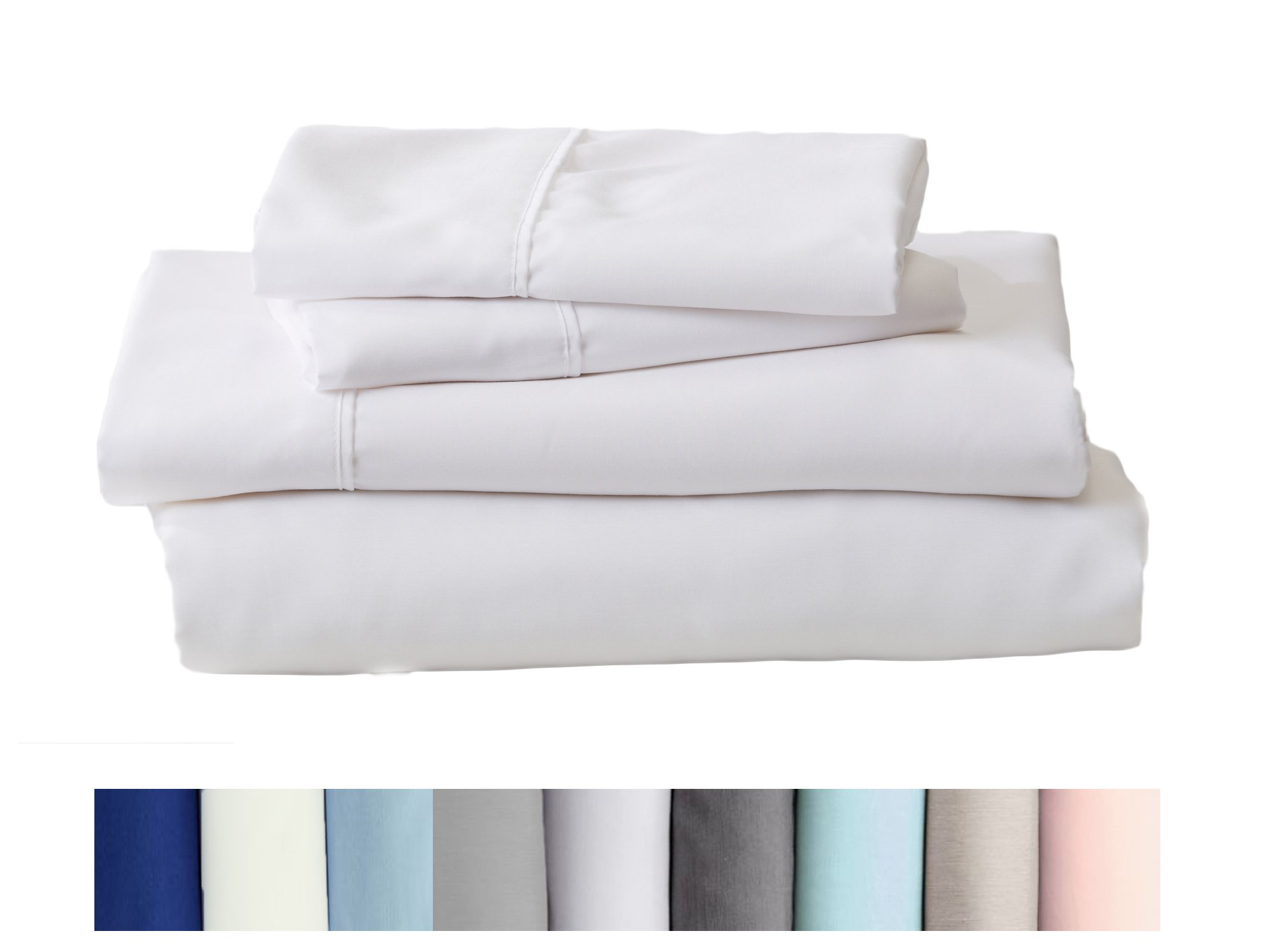 Home Fashion Designs Claudette Collection Egyptian Quality Double Brushed Microfiber Sheet Set. Hypoallergenic, Wrinkle & Fade Resistant Hotel Luxury Bed Sheets Brand. (Twin, White)