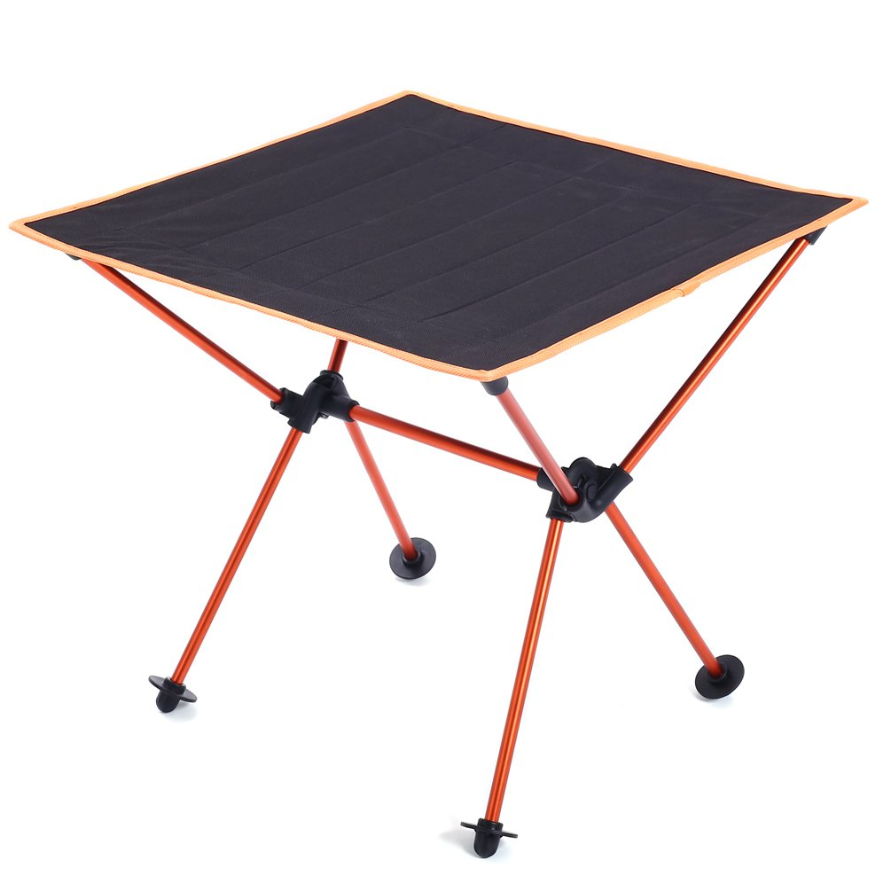 Foldable Folding Camping Outdoor Picnic Travel Ultra Light Desk,Durable 600D Thicken Oxford Cloth,Sturdy Aluminum Alloy Frame,with Carry Bag with Carry Bag Saibyss Lightweight Portable Table Blue