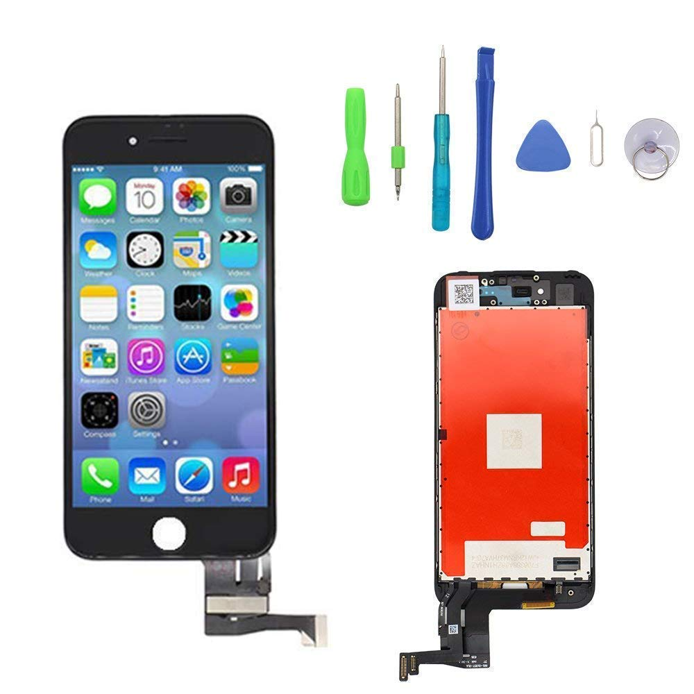 Screen Replacement Compatible with iPhone 7 White 4.7 inch, LCD Display & Touch Screen Digitizer Frame Assembly Set with 3D Touch and Free Repair Tool YOU XIN