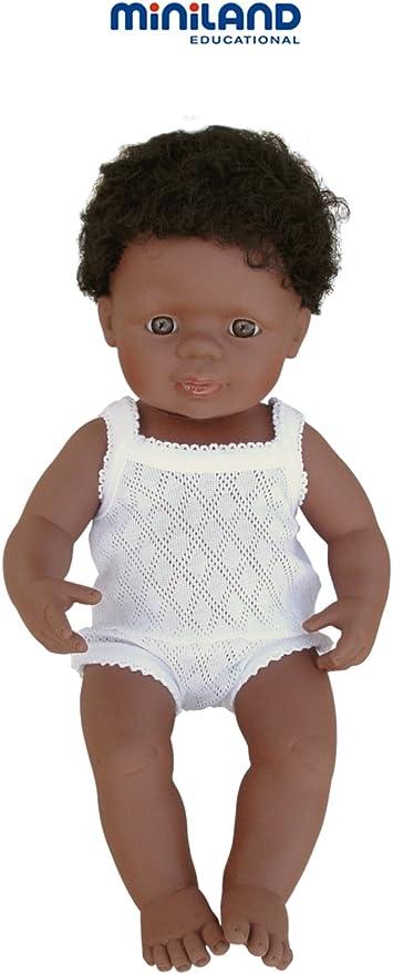 Amazon.es: Miniland bebé negrito niño 40 cm: Juguetes y juegos