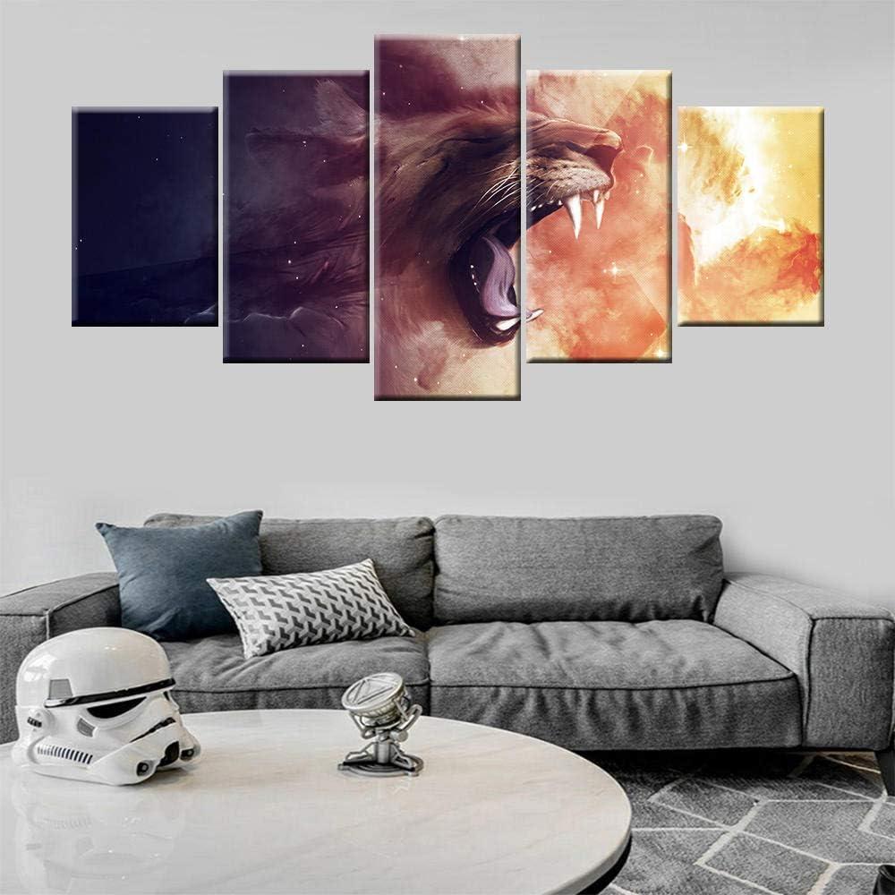37Tdfc Grande Cuadro Abstracto sobre Lienzo Modernos Impresión de Imagen Pared 5 Piezas Sala Estar Dormitorio Moderno Decoración Wall Art Canvas Llama Cello Music