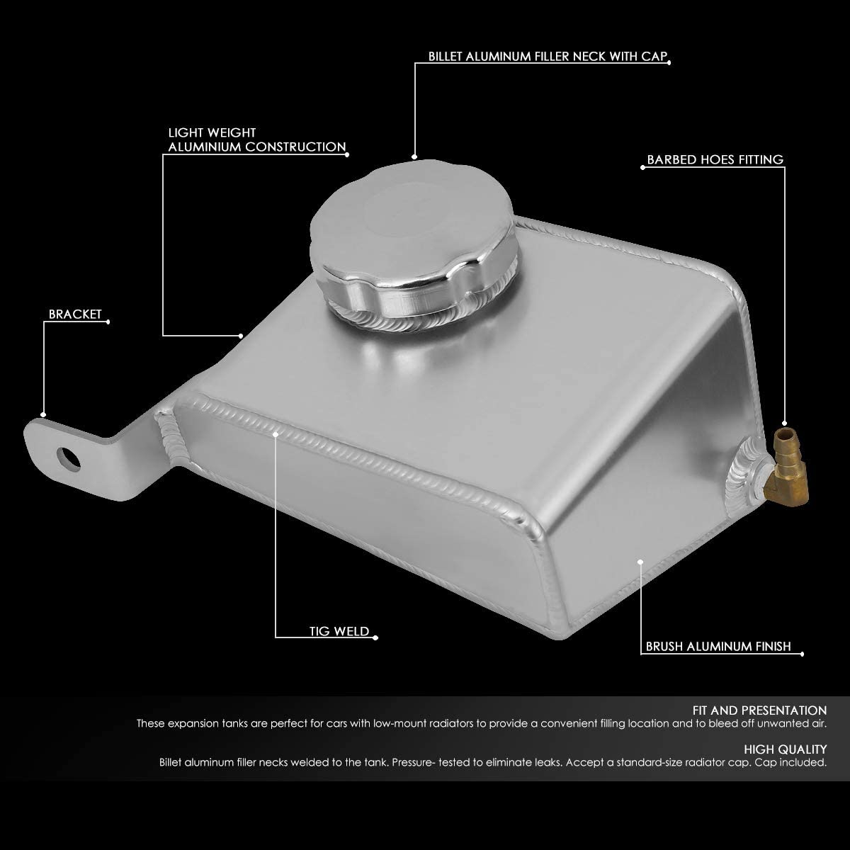 Aluminum Coolant Expansion Recovery Overflow Tank//Bottle Replacement for 99-05 Mazda Miata