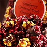 Raspberry Caramel Dark Chocolate Gourmet Popcorn 8oz. Bag