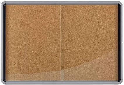 NOBO 1902575 - Vitrina de interior puerta corredera fondo corcho 18 x DIN A4 hojas: Amazon.es: Oficina y papelería