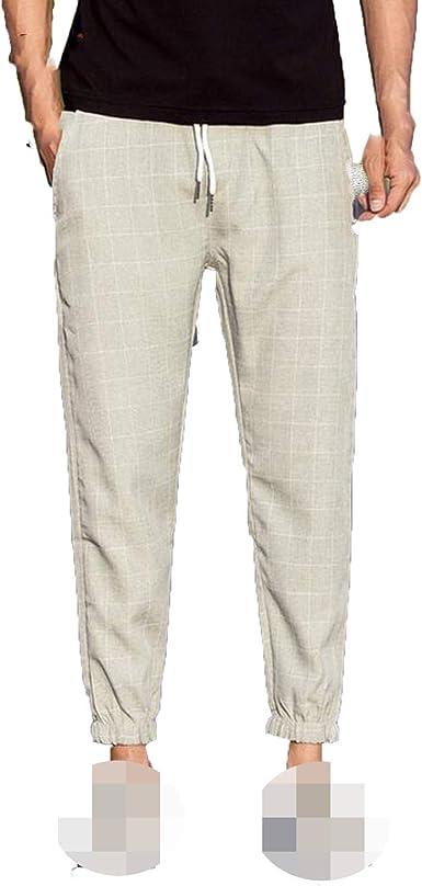 Amazon Com Pantalones De Tobillo Para Hombre Estilo Casual Clothing