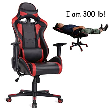 Marvelous Auag Ergonomic Gaming Chair Racing Style Adjustable High Back Pu Leather Office Chair Computer Desk Chair Executive Ergonomic Style Swivel Video Chair Spiritservingveterans Wood Chair Design Ideas Spiritservingveteransorg