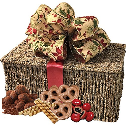 Chocolate Gift Basket with Godiva Chocolate Nuts, Chocolate Cherries, Chocolate Truffles, Chocolate Chip Cookies & Wafer Rolls, Chocolate Covered Nuts & Chocolate Espresso Mix