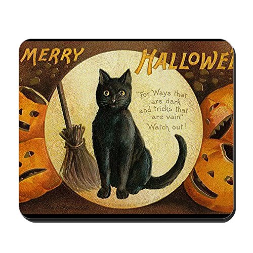 CafePress - Vintage Merry Halloween Mousepad - Non-Slip Rubber Mousepad, Gaming Mouse Pad ()