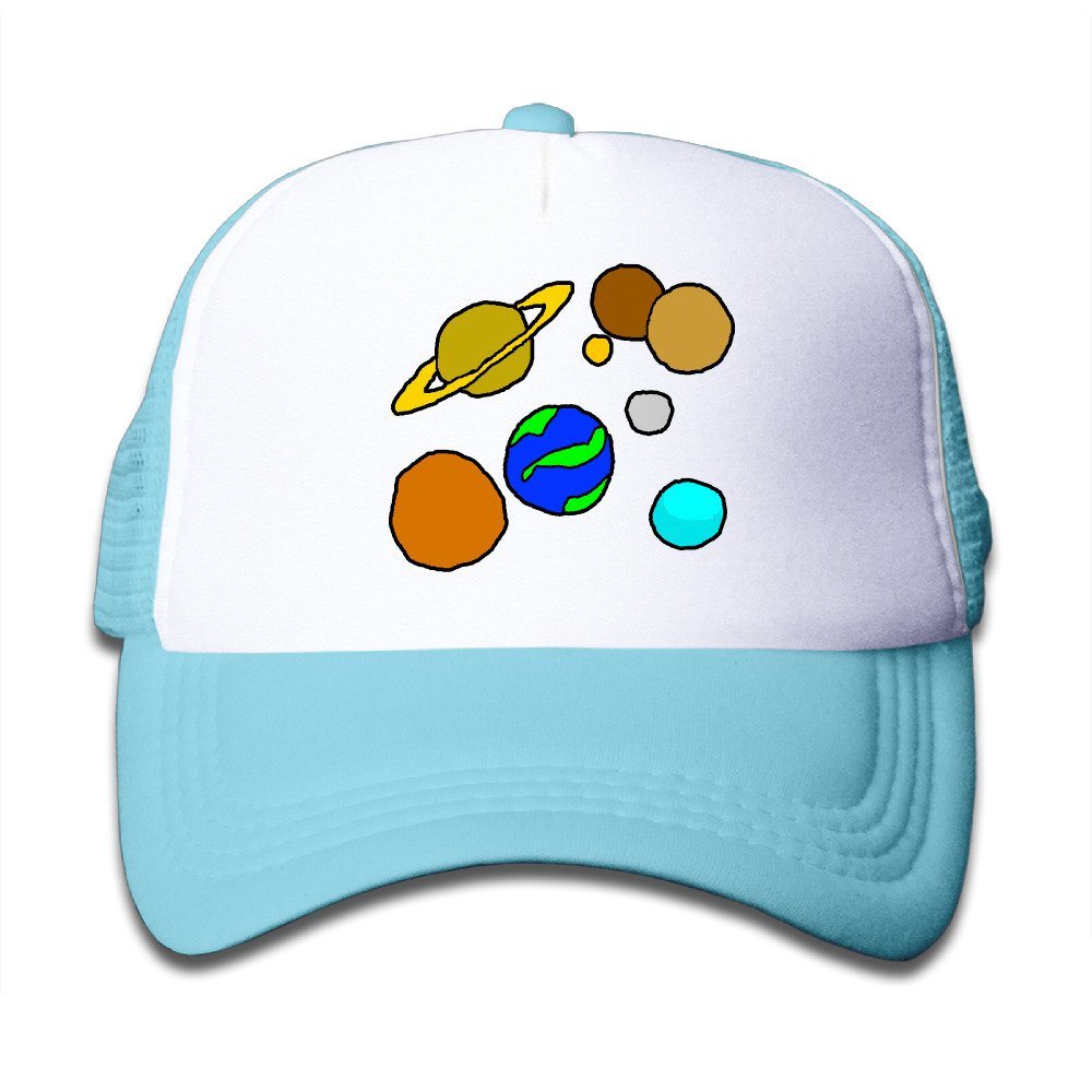 Baby Solar System Cute Fitted Adjustable Snapback Hats Mesh Baseball Hat Unisex Cap