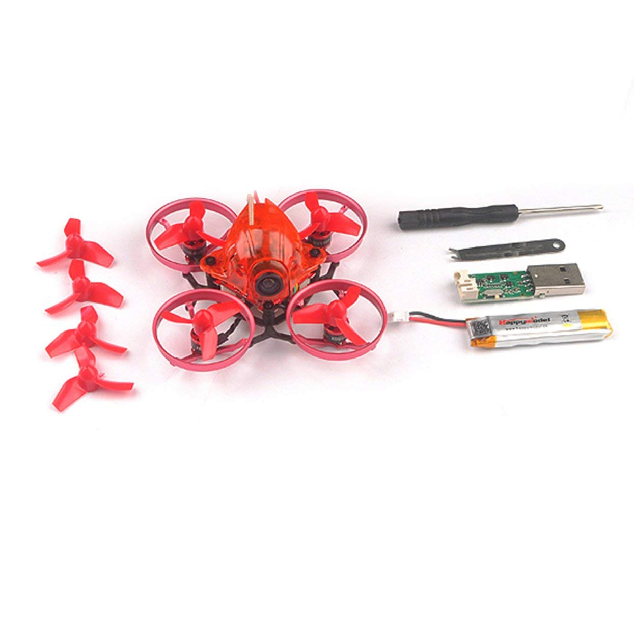 Tellaboull FOR Happymodel Snapper6 65mm Micro 1S Brushless FPV Racing RC Drohne Quadcopter mit F3 OSD BLHeli_S 5A ESC BNF FOR