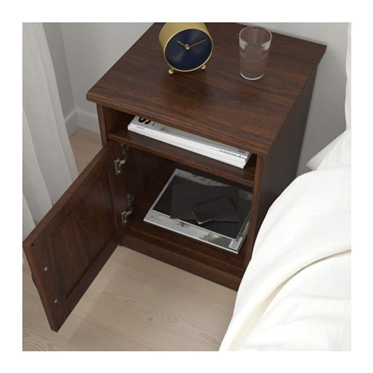 Amazon.com - IKEA Songesand Nightstand Brown 703.674.44 Size ...