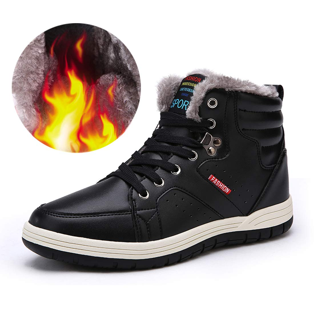 761c10c12e14 1-FASHION DESIGN Fashion sonw sneaker boots features waterproof PU leather  upper
