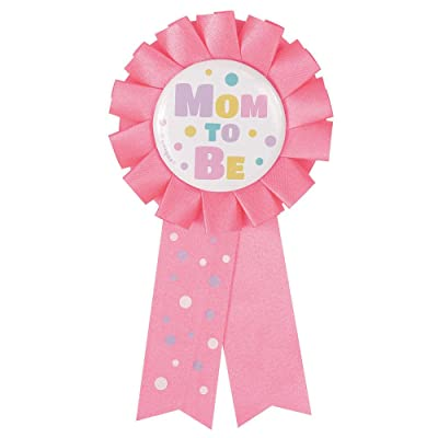 Pink Mom to Be Baby Shower Award Ribbon: Kitchen & Dining