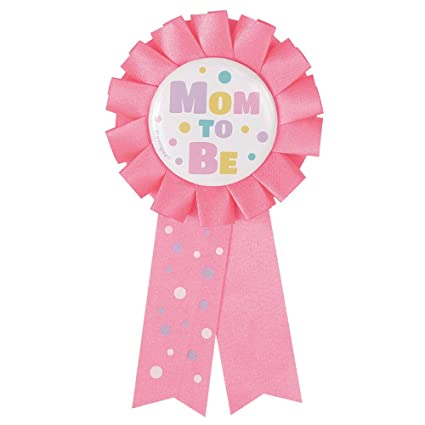 Amazon Pink Mom To Be Baby Shower Award Ribbon Kitchen Dining