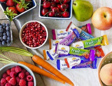 SunRype Fruitsource 100% Fruit Bar - Vegan, Gluten-Free, Kosher, Peanut-Free (Case of 25 Bars)