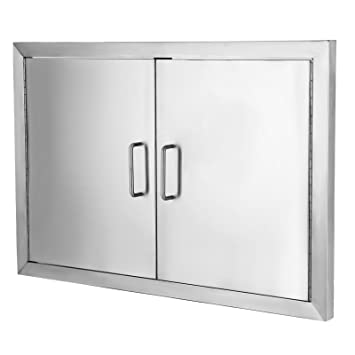 vevor flush access door 304 stainless steel bbq doors double access door