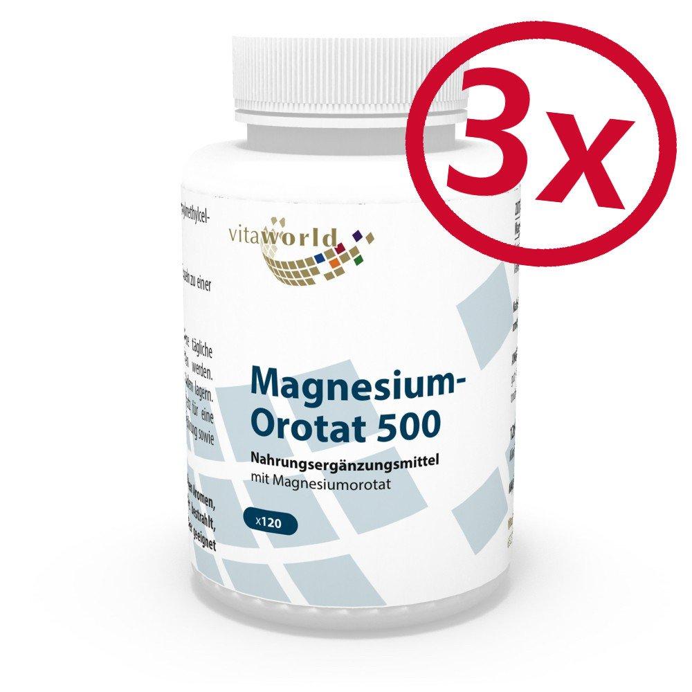 Pack de 3 Orotato de Magnesio 195mg 3 x 120 Cápsulas Vegatales ...
