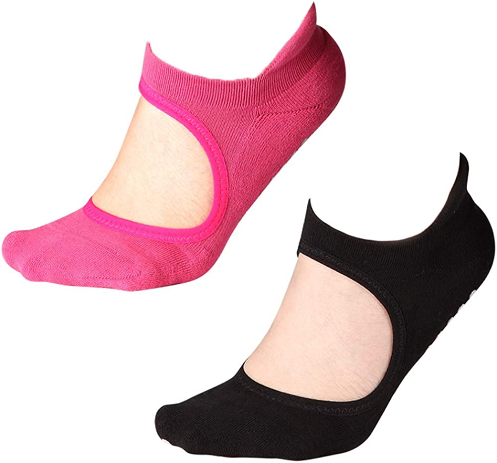 Yoga Socks Non Slip Skid Grips Pilates Fitness Ballet Exercise Floor Socks 1Pair