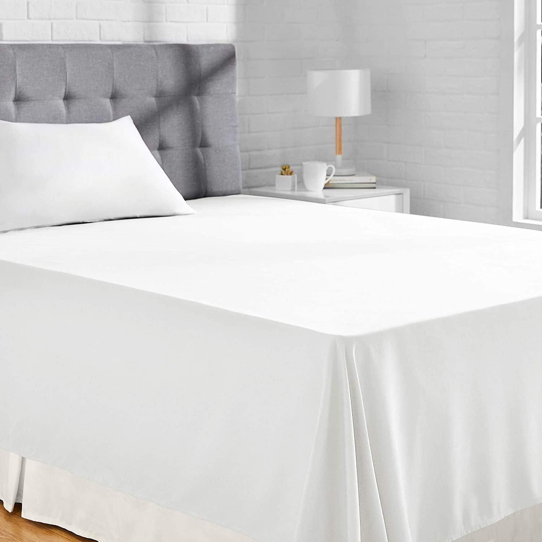 viterbo Lenzuolo con Angoli Maxi Matrimoniale 50/% Poliestere Bianco 180 x 200 x 25 cm in 50/% Cotone
