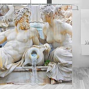 Austria Vienna Shower Curtain Travel Bathroom Decor Set with Hooks Polyester 72x72Inch(YL-00440)