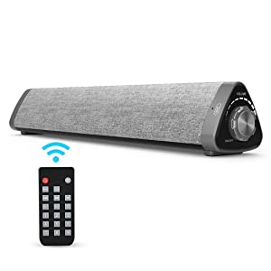 """SJCCKJ 16"""" 2.0 Channel Bluetooth Computer Speakers, Wired and Wireless Home Theater Surround Speaker with Built-in Subwoofers for Cell Phone, Tablet and Projector(Remote Control Included)"""