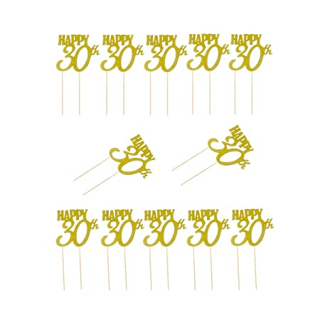 BESTOYARD Due-Home Topper Tarta De números 30 para ...