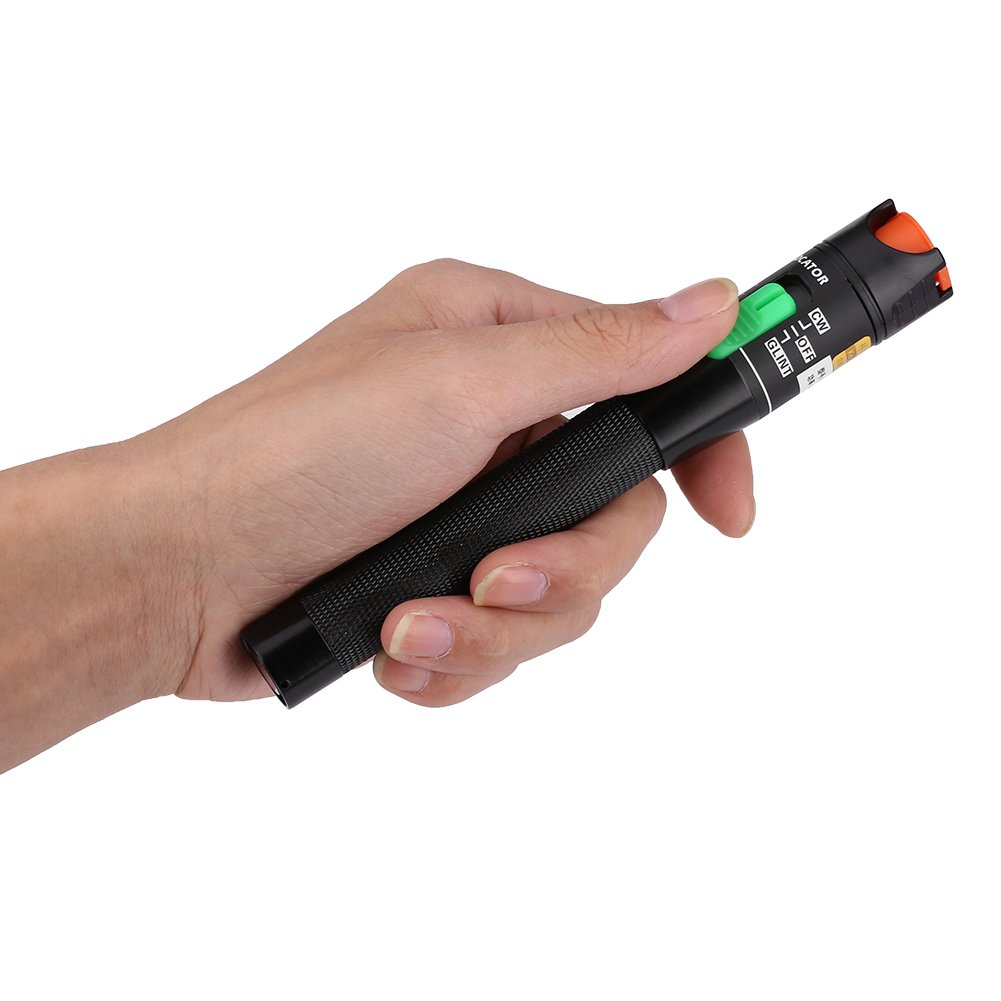 Red Light Fiber Optic Cable Tester Checker Test Tool for CATV Telecommunications Engineering Maintenance VGEBY Visual Fault Locator