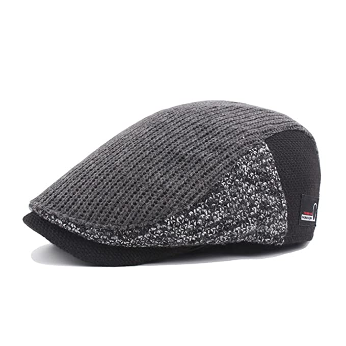LCLrute Männer Casual Duckbill Hut warme Newsboy flache Scally Cap ...