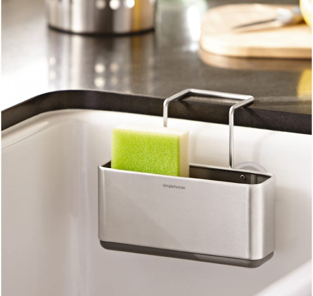 Dish Racks Home Kt1134 Simplehuman Slim Sink Caddy Brushed Stainless Steel