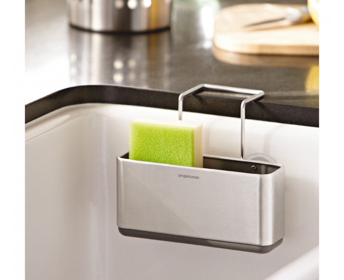Superbe Amazon.com: Simplehuman Slim Sink Caddy, Brushed Stainless Steel: Home U0026  Kitchen