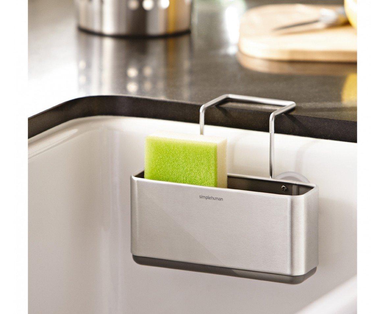 Bon Amazon.com   Simplehuman Slim Sink Caddy, Brushed Stainless Steel   Sponge  Holder For Kitchen Sink