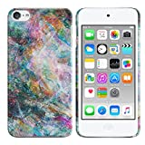 FINCIBO Case Compatible with Apple iPod Touch 5 6th Generation, Back Cover Hard Plastic Protector Case Stylish Design for iPod Touch 5 6 - Galaxy Star Marble