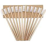 Spazzolino da denti in bambù, ecologico, in legno naturale, realizzato con setole morbide ottenute dall'infuso di carbone di bambù