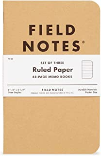 "product image for Field Notes: Original Kraft 3-Pack - Ruled Paper - 48 Pages - 3.5"" x 5.5"""