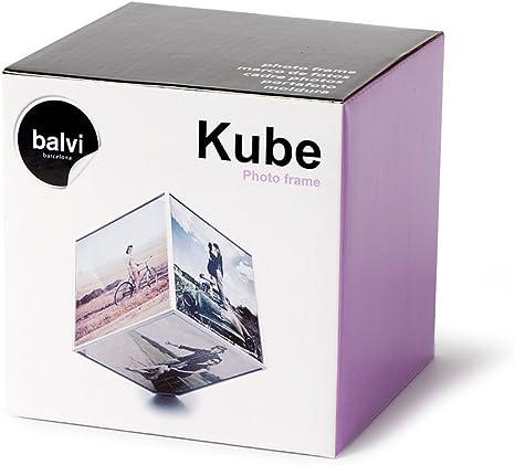 Balvi - Marco Kube giratorio 6x 10x10, 1xAA (No incluida), plástico: Amazon.es: Hogar