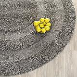 Safavieh Shadow Box Shag Collection SG454-8080 Grey Round Area Rug (6'7″ Diameter) Review
