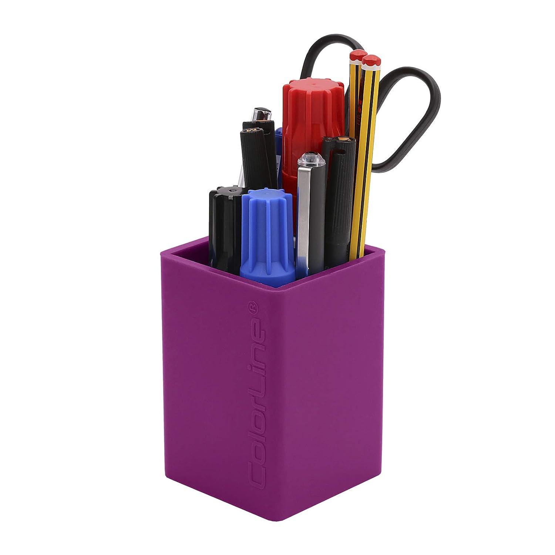 Color Gris Flexible y Resistente Cubilete Porta L/ápices de Silicona Ultra Soft PracticOffice