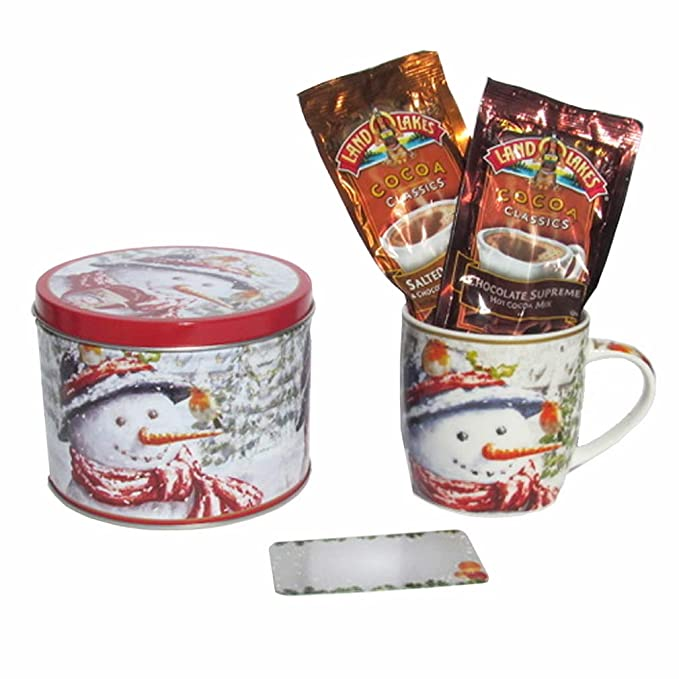 Amazon.com : Hot Chocolate Gift Set- Land O Lakes Santa Claus Christmas Coffee Mug - 2 Hot Cocoa Individual Packets of Salted Caramel & Chocolate and Chocolate Sup...