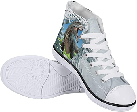Cool Cat Printed High Top Boys Girls Canvas Lightweight Walking Shoes Lace Up Casual