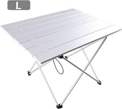TRIWONDER Mesa Plegable para Acampada Ligera Aleación de Aluminio ...
