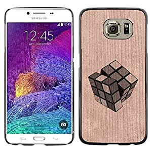 - / Cube Puzzle Game Deep Meaning - - Funda Delgada Cubierta Case Cover de Madera / FOR Samsung Galaxy S6 G9200 / Jordan Colourful Shop/